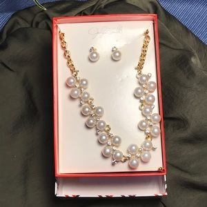 NIOB Jaclyn Smith Earrings and Necklace Set